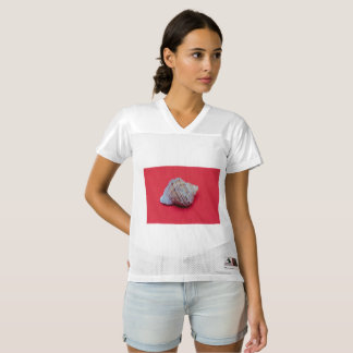 Seashell on a red background women's football jersey