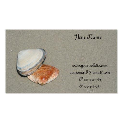 seashell on beach business card