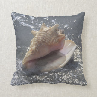 Seashell On Beach | Sanibel Island, Florida Throw Pillow