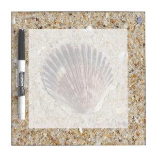 Seashell On Sand Dry-Erase Board