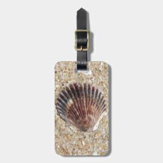 Seashell On Sand Luggage Tag