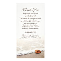 Seashell on the Beach | Sympathy Thank You Card