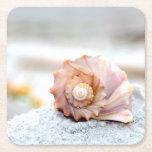 Seashell Paper Coasters Square Paper Coaster