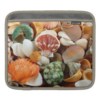 Seashell pattern horizontal ipad sleeve