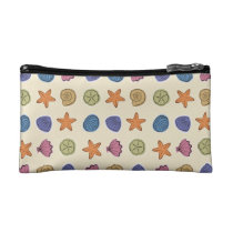 Seashell Pattern Small Cosmetic Bag