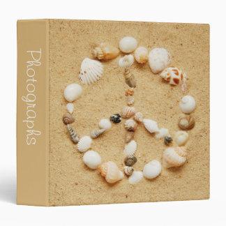 "Seashell Peace Sign 1.5"" Photo Album 3 Ring Binder"