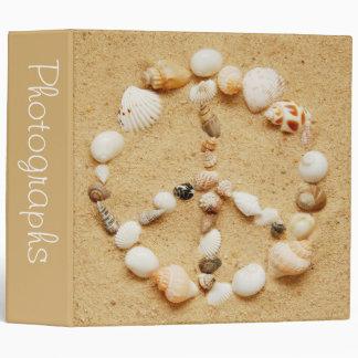 "Seashell Peace Sign 2"" Photo Album Binder"