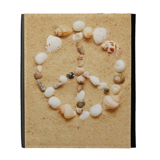 Seashell Peace Sign iPad Folio Case