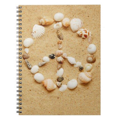 Seashell Peace Sign Notebook