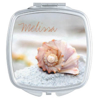 Seashell Personalized Compact Mirror