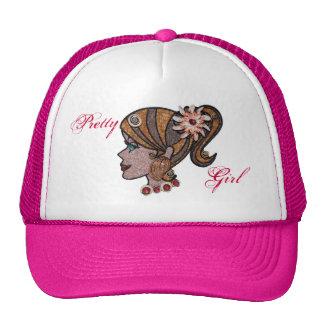 Seashell pony tail trucker hat