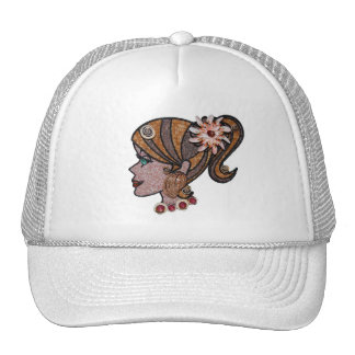 Seashell pony tail trucker hat