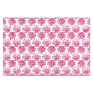Seashell rosado de la acuarela papel de seda