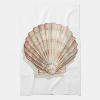Seashell rosado y poner crema toalla de cocina