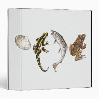 Seashell, Salamander, Salmon Binder