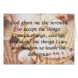 Seashell Serenity Prayer Card
