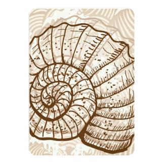 Seashell Sketch Card