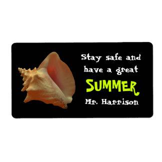 Seashell Summer Candy Bar Wrapper From Teacher Label