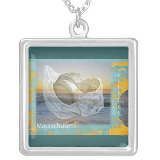 Seashell & Surf - Cape Cod Massachusetts Silver Plated Necklace