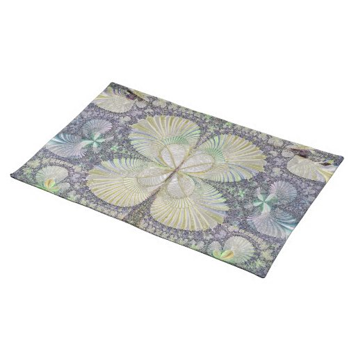 Seashell Symmetry Placemat Cloth Placemat