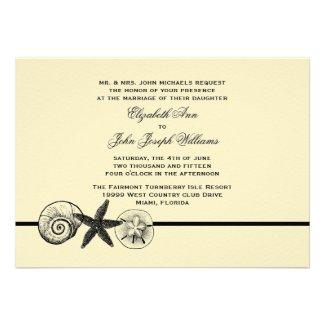 Seashell Treasures Wedding Invitation