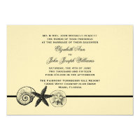 Seashell Treasures Wedding Invitation