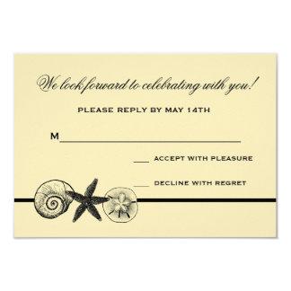 Seashell Treasures Wedding Response Card