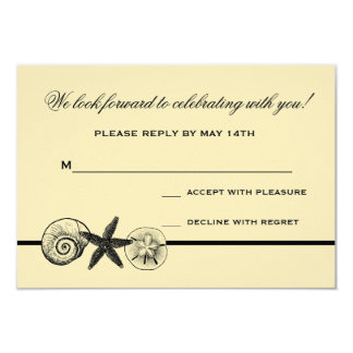 Seashell Treasures Wedding Response Card Announcements