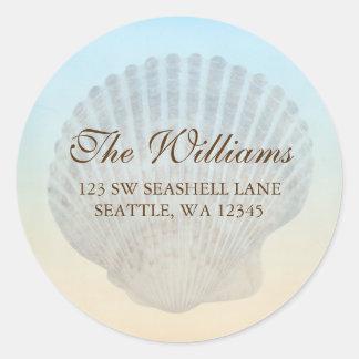 Seashell Tropical Beach Address Label