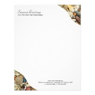 Seashell Tropical Business Blank Custom Letterhead