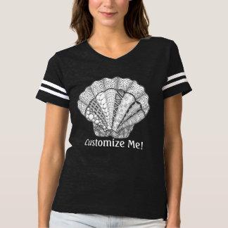 Seashell Unique Hand Drawn Scallop Shell T-shirt