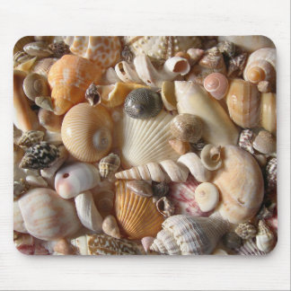 Seashell Variety Tropical Mouse Mat Mouse Pad