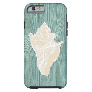 Seashell Vintage Aqua Wood Beach iPhone 6 Case
