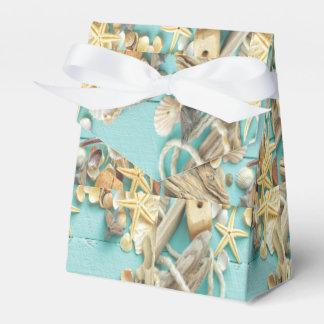 seashell, vintage, collage, turquesa, moda, de caja para regalo de boda
