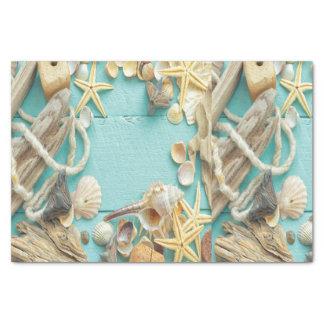 seashell, vintage, collage, turquesa, moda, de papel de seda pequeño