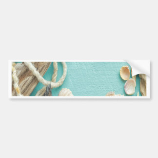 seashell,vintage,collage,turquoise,chic,trendy,fun car bumper sticker
