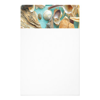 seashell,vintage,collage,turquoise,chic,trendy,fun stationery paper