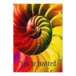 Seashell vivo Swirly en el color de Techno Invitación 12,7 X 17,8 Cm