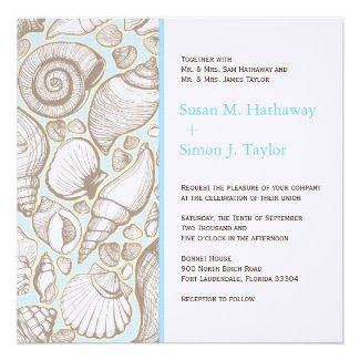 Seashell Wedding Invitation