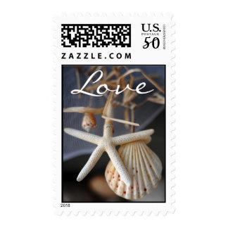 Seashell Wedding Postage