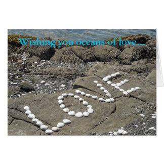 Seashell Word Art Spells Love Card