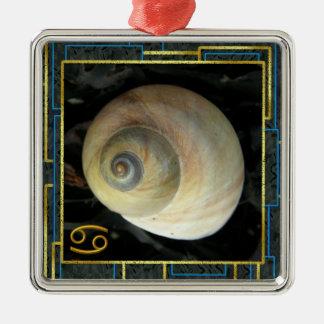 Seashell Zodiac, Cancer Moon Shell Ornaments