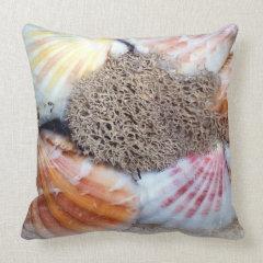 Seashells 2 throw pillows