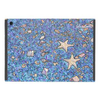 Seashells abstractos en la caja del aire 2 del iPad mini funda