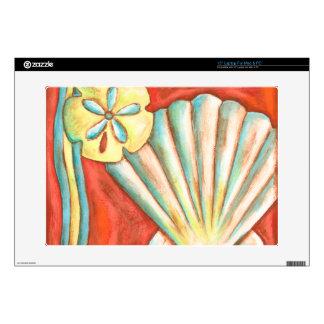 Seashells anaranjados rústicos skins para 38,1cm portátil