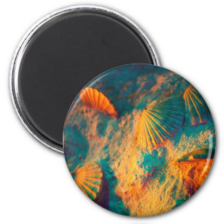 Seashells and Sand 2 Inch Round Magnet
