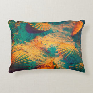 Seashells and Sand Accent Pillow
