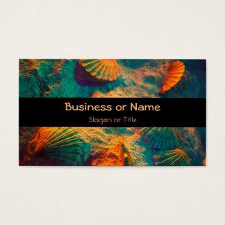 Seashells and Sand Beach Theme Business Card