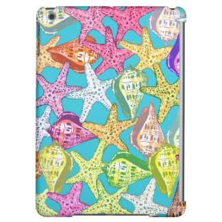 Seashells and sea stars iPad air cover