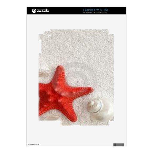 seashells and starfish iPad 2 skins